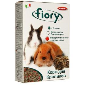 Корм для кроликов Fiory Pellettato, 975 г, овощи, зерна, юкка, органический селен, минералы и инулин