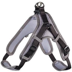 Шлейка для собак Hunter Neopren L, черный/серый