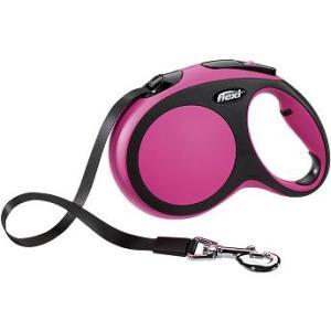 Рулетка для собак Flexi New Comfort L L, черный/розовый