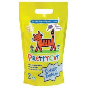 Наполнитель для кошачьих туалетов Pretty Cat Супер Белый, 2 кг