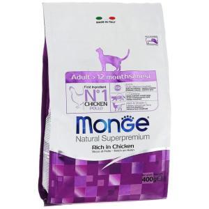 Корм для кошек Monge Adult, 400 г, курица