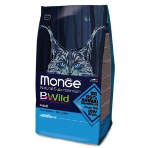 Корм для кошек Monge Bwild Cat Anchovies, 10 кг, анчоусы