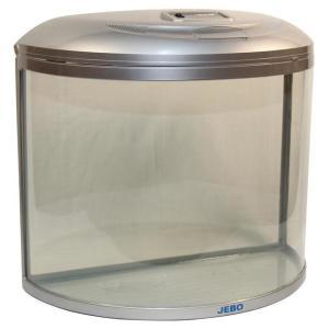 Аквариум для рыб Jebo 760R, 62 л, размер 60.5х30х54.5см., серебро