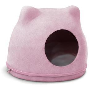 Домик для кошек Triol Кошкин Дом, размер 34х43х34см., розовый