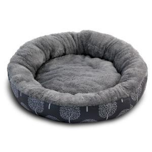 Лежак для собак Triol Сказочный лес M, размер 63х63х11см., серый