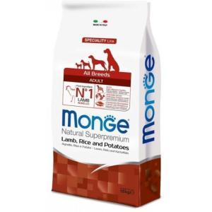 Корм для собак Monge Dog Speciality, 12 кг, ягненок с рисом и картофелем