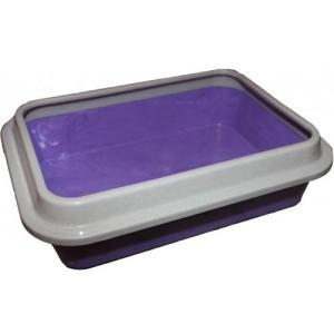 Туалет для кошек Сибирская кошка Эконом, размер 37х27х10см., цвета в ассортименте