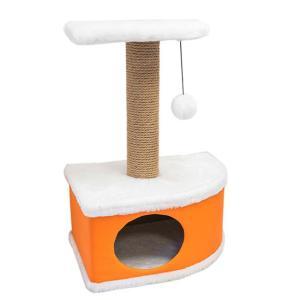 Домик-когтеточка для кошек Yami-Yami Конфетти, размер 49х37х70см., оранжевый