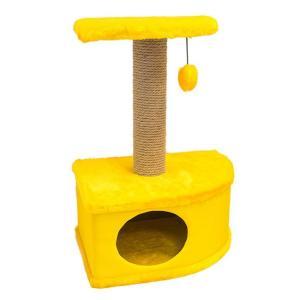 Домик-когтеточка для кошек Yami-Yami Конфетти, размер 49х37х70см., желтый