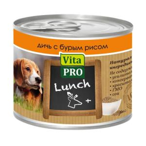 Корм для собак Vita Pro LUNCH, 200 г, дичь, бурый рис
