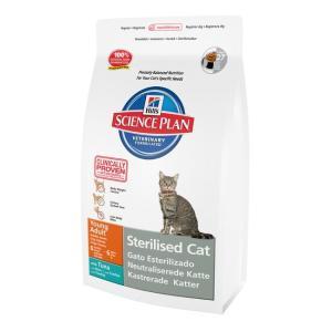 Корм для кошек Hill's SP Adult Sterilised, 1.5 кг, тунец