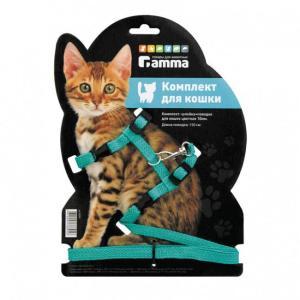 Шлейка для кошек Гамма Цк-02000, цвета в ассортименте