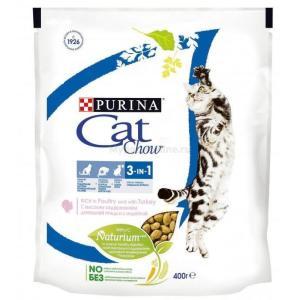 Корм для кошек Purina Cat Chow Feline 3 in 1, 400 г, индейка