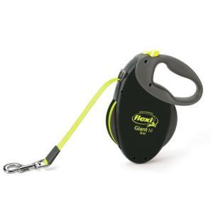 Поводок-рулетка для собак Flexi Giant Neon  M, черный-неон