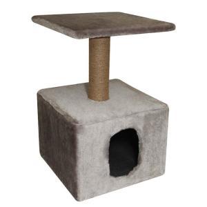 Домик с когтеточкой для кошек Гамма, размер 40х40х65см., цвета в ассортименте