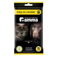 Фотография товара Влажные салфетки для собак и кошек Гамма, 15