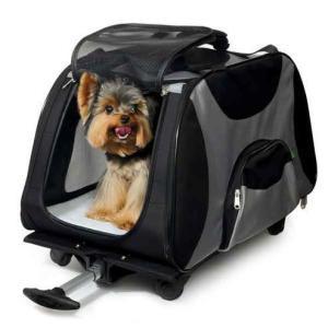 Сумка-переноска на колесах для собак и кошек Triol 1004, размер 67.5x34x43.5см.