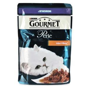 Корм для кошек Gourmet Perle, 85 г, ягненок