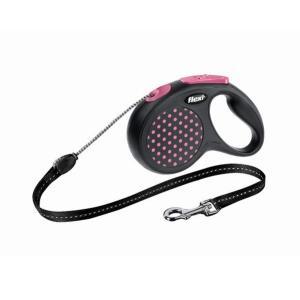 Поводок-рулетка для собак Flexi Design Classic S, розовый