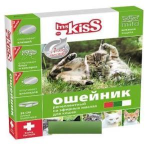 Ошейник для кошек от блох и клещей Ms. Kiss, красный