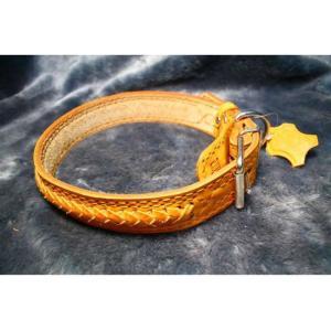 Ошейник для собак Зоомастер Плетеный M, размер 1.5х30см., цвета в ассортименте