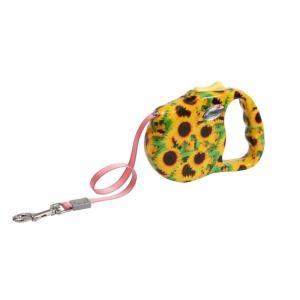 Поводок-рулетка для собак Freego Подсолнух