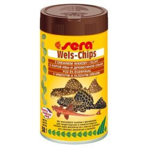 Корм для лорикариевых сомов Sera Wels Chips, 38 г, 100 мл