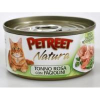 Фотография товара Консервы для кошек Petreet Natura, 70 г, розовый тунец с зеленой фасолью