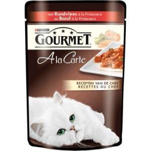 Влажный корм для кошек Gourmet A la Carte, 85 г, Говядина с Морковью, Томатом и Цукини