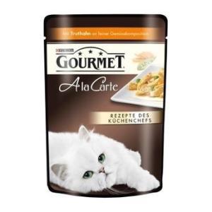 Влажный корм для кошек Gourmet A la Carte, 85 г, Индейка с Зеленым горошком и Морковью