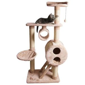 Игровой комплекс для кошек Trixie Mijas, размер 76х46х176см., бежевый