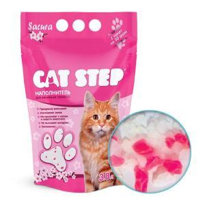 Наполнитель для кошачьего туалета Cat Step Sacura, 3.8 л