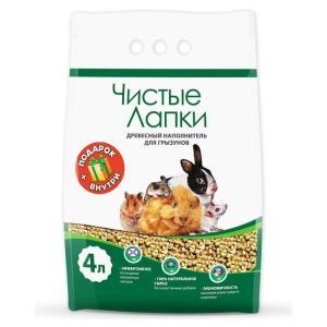 Наполнитель для грызунов Чистые Лапки, 1.7 кг, 4 л