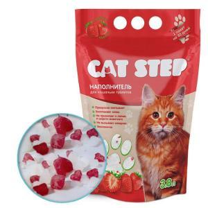 Наполнитель для кошачьего туалета Cat Step Клубника, 1.81 кг, 3.8 л