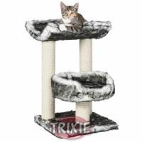 Фотография товара Домик с когтеточкой для кошек Trixie Isaba, размер 36х36х62см., черно-белый