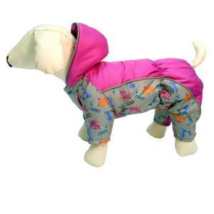 Комбинезон для собак Osso Fashion, размер 35, серый/фуксия
