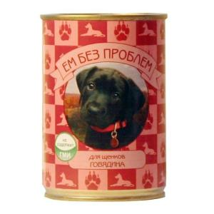 Корм для щенков Ем Без Проблем, 410 г, говядина