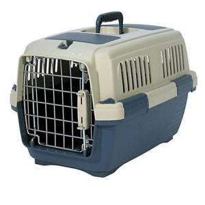 Переноска для собак и кошек Marchioro Clipper Tortuga, размер 1, размер 50х33х32см., бежевый/синий