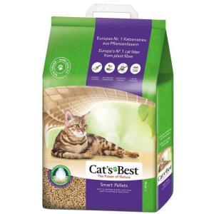 Древесный наполнитель премиум класса Cat's Best Smart Pellets, 10 кг, 20 л