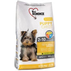 Корм для щенков 1st Choice Puppy Toy & Small Breeds, 7 кг, цыпленок с овощами