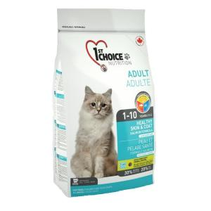 Корм для кошек 1st Choice Healthy skin & coat, 5.44 кг, лосось