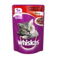 Фотография товара Корм для кошек Whiskas, 85 г, говядина и ягненок