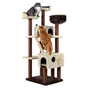 Домик когтеточка для кошек Trixie Felicitas, размер 70х61х190 см.см., коричневый/бежевый