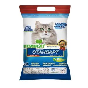 Наполнитель для кошачьего туалета Homecat Эколайн, 3 кг, 6 л