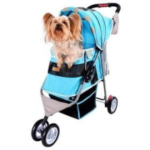 Коляска для собак и кошек Ibiyaya Pet Buggy, размер 80х90х32см., голубой