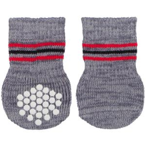 Носки для собак Trixie Dog Socks L, серый