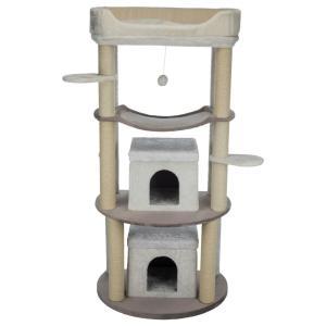 Домик-когтеточка для кошек Trixie Nora, размер 158см., светло - коричневый / кремовый