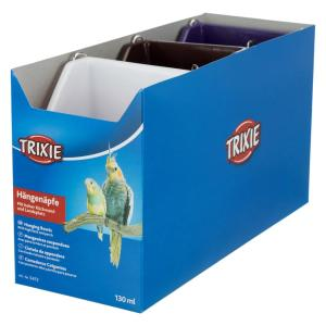 Кормушка для птиц Trixie Hanging Bowls, 130 мл, размер 8×7см., цвета в ассортименте