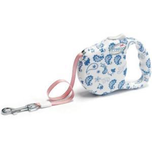 Поводок для собак Freego Пейслийский Узор M, белая с синим