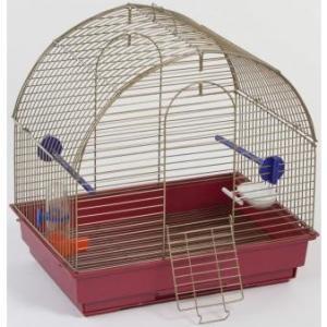 Клетка для птиц Велес Lusy Mini, 1 кг, размер 30х42х40см., золото